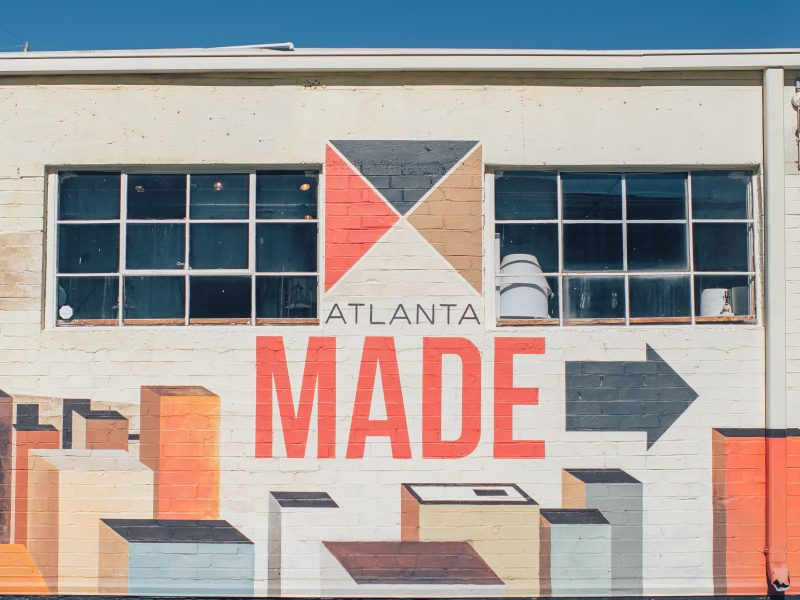 "building with ""Atlanta Made"" painted on the side"