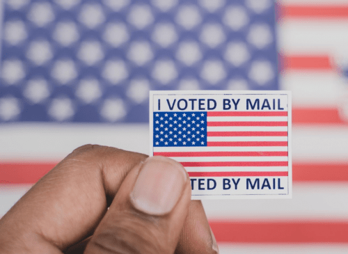 I voted by mail sticker